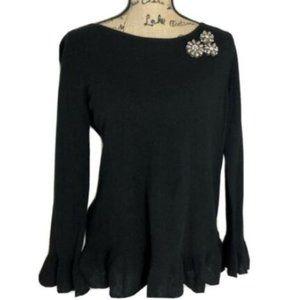 Charter Club 100% Cashmere Peplum Sweater P L New